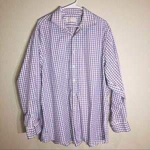 Michael Kors Mens Shirt Lilac 18 1/2